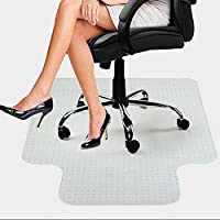 PVC Chair Mat for Low and Standard Pile Carpets | Lipped | Transparent Carpet Protector-120cmx90cm