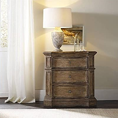 Hooker Furniture Solana 3-Drawer Nightstand in Light Oak