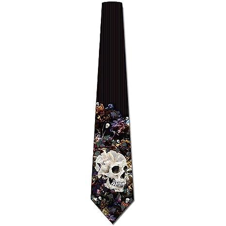 Corbatas para hombre Corbata de Halloween floral gótica para ...
