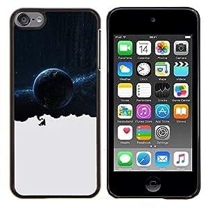 Espacio Galaxy Pensamientos- Metal de aluminio y de plástico duro Caja del teléfono - Negro - iPod Touch 6