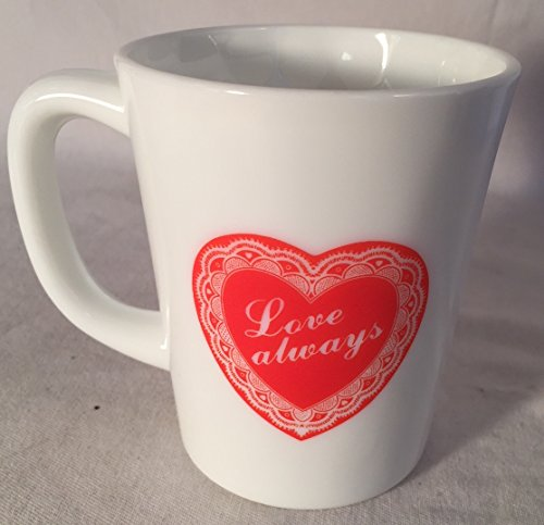 (Coffee Mug - Milk Glass Valentine's Heart