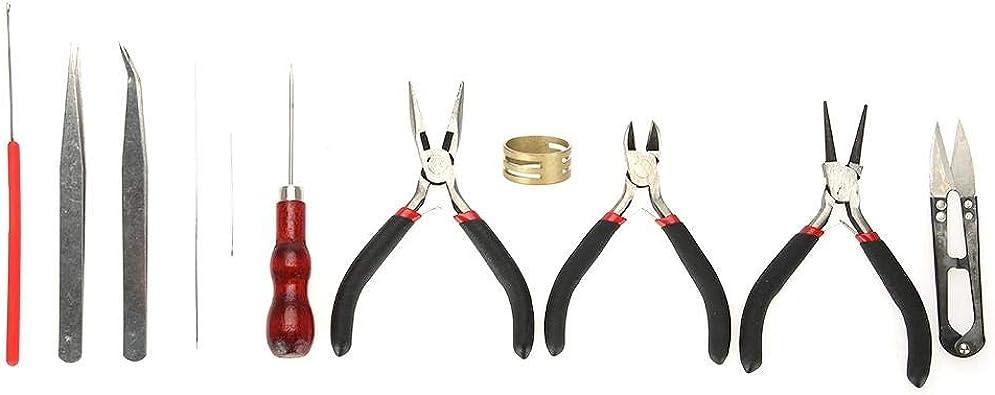 Jewelry Jade Finding Making Repair Kit DIY Starter Tools Set Plier Bead Thread