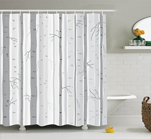 Ambesonne Collection Branches Polyester Bathroom