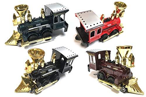 (HCK Classic Steam Train LOCO Cab 5 inch Diecast Model Toy Car - Set of)