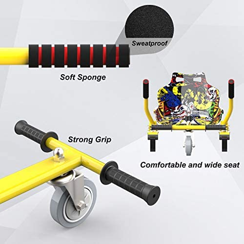 "COLORWAY HoverKart pour Hover Scooter Board Kart Siège pour Gyropode, Scooter Électrique, Ajustable Compatible avec Scooter 6.5"", 8.5"", 10"" Scooters"