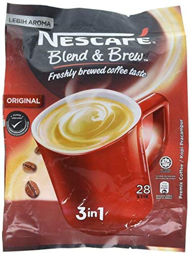 Nescafé 3 in 1 Instant Coffee Sticks ORIGINAL - Best Asian Coffee Imported from Nestle Malaysia (28 Sticks) by Nescafe