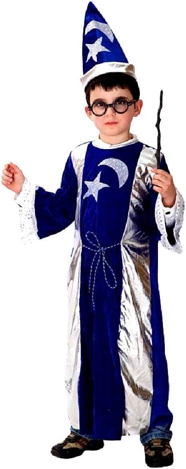 Disfraz de mago Merlín - color azul y plata - disfraces para niños ...
