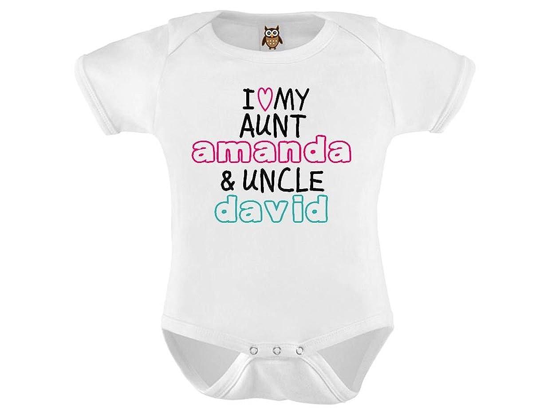 9b572fc3e Personalised My Auntie & Uncle Love Me Named Baby Vest / Bodysuit / Onesie