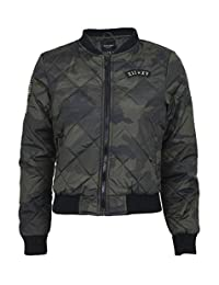 Chocolate Pickle Womens Military MA1 Camouflage Print Padded Bomber Jackets