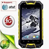 Snopow M8 Ip68 Waterproof Dustproof Shockproof Rugged Outdoor Hiking 3g 2g Unlocked Cell Phone Dual Sim Quad Core Android 4.4/ptt Walkie-talkie NFC OTG LED Torch Gps 4.5 Inch Smartphone(yellow)