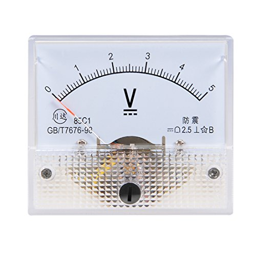 uxcell DC 0-5V Analog Panel Voltage Gauge Volt Meter 85C1 2.5% Error Margin