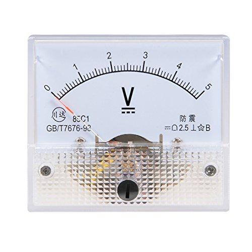 uxcell DC 0-5V Analog Panel Voltage Gauge Volt Meter 85C1 2.5% Error