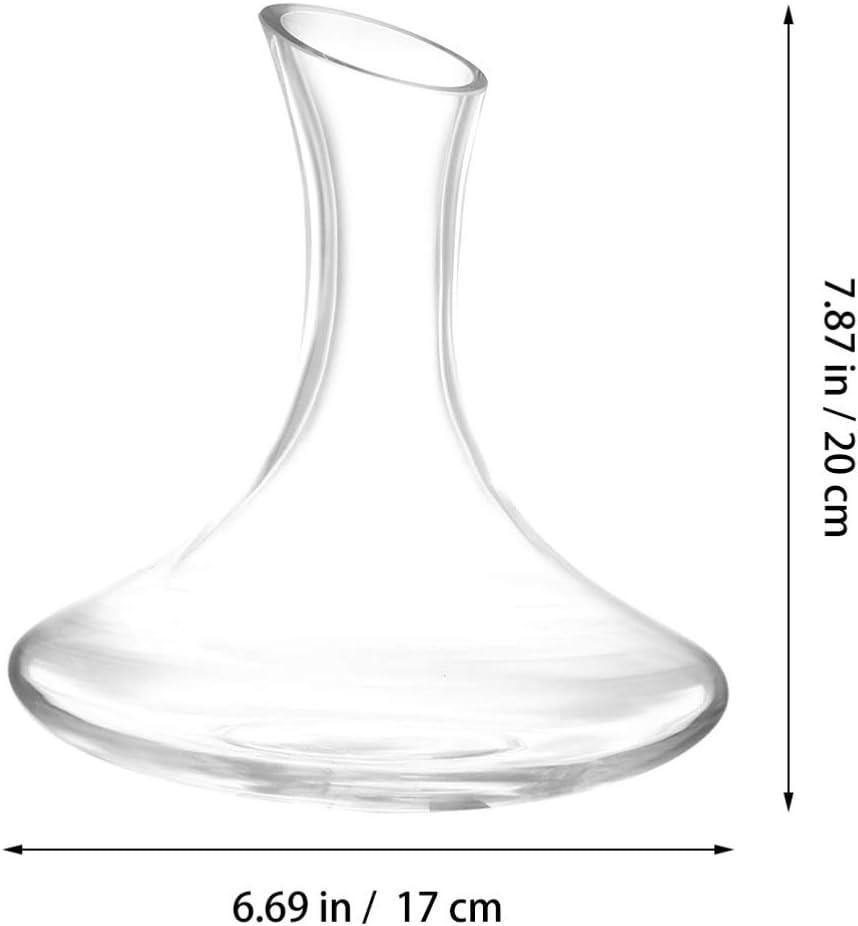 Transparente Hemoton Decantador de Vino Cristal Vino Tinto Garrafa Dispensador de Vino Vino Aireador de Mano Accesorios de Vino para Navidad Boda Regalo de Cumplea/ños