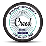 Best-Semi-Matte-Finish-Shine-Strongest-Firm-Hold-Pomade-4oz-For-Men-Women-Classic-Styling-Product-Barber-Approved-Water-BasedSoluble-Defining-Texture-Scented-StraightThickWavy-Hair