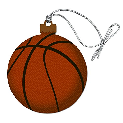 Graphics and More Basketball Ball Wood Christmas Tree