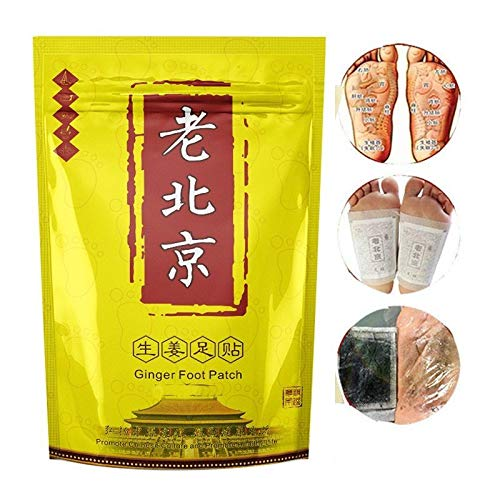 DiKoMo Anti-Swelling Ginger Foot Patch - 10PCs Organic Foot Patches Pads To Promote Blood Circulation & Metabolism, Reduce Pain & Tiredness Improve Sleep DiKoMo Direct