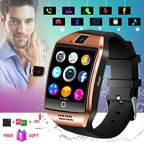 Smart Watch,Smart Watches,Smartwatch for Android Phones, Waterproof Smart wrist Watch Touchscreen with Camera Bluetooth Watch Cell Phone Compatible Android Samsung iOS XS XR X 8 7 6 Men Women Youth