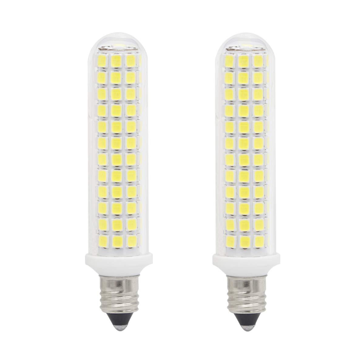 Ylaide E11 led Light Bulb 100W Halogen Bulbs Equivalent 1300lm, t4 jd e11 Mini Candelabra Base 110V 120V 130V Input 100W Halogen Replacement, Pack of 2 (Daylight White 6000K)
