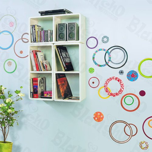 Colorful Circle 2 - X-Large Wall Decals Stickers Appliques Home Decor product image