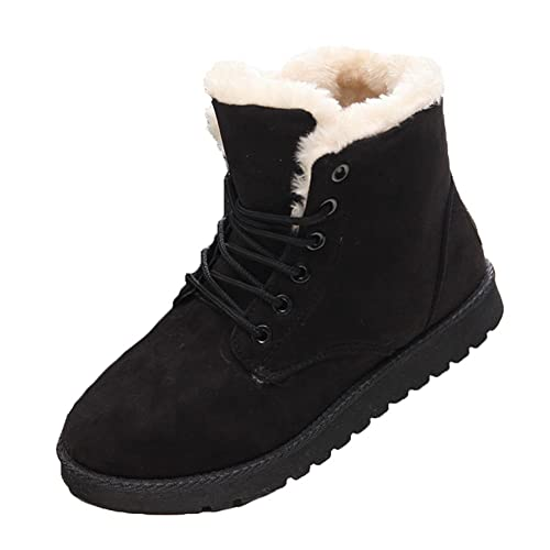 5894602b94c5 Women s Snow Boots with Warm Lining Slip-on Shoes Flat Boots Winter Classic  Ankle Boots  Amazon.co.uk  Clothing