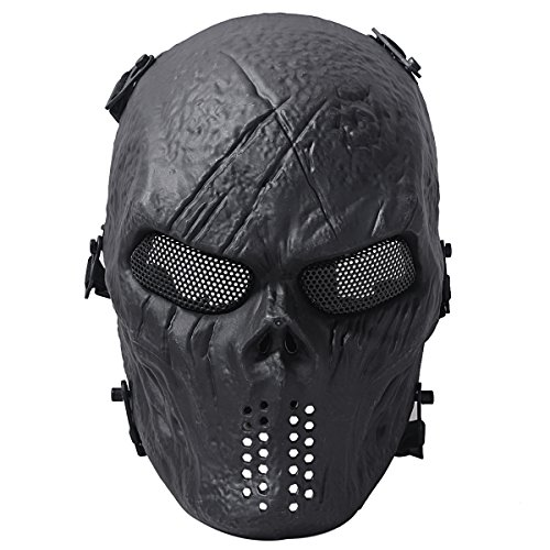 Coofit Ghost Skull Airsoft Paintball Full mask military protection...