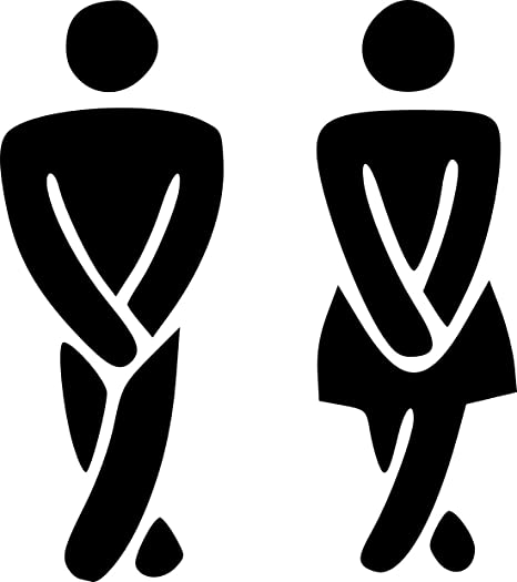 Amazon.com: Funny Toilet Entrance Sign Decal Vinilo ...