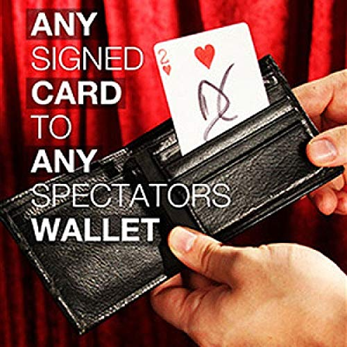 Any Card to Any Wallet Gimmick Ultimate Signed Cards Control Utility Magic Trick (Any Signed Card To Any Spectators Wallet)