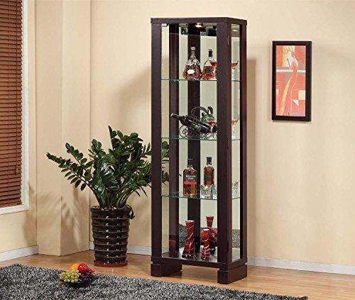 11404 Smart Home Wine Bar Edition Curio Display (Red Cocoa (Wine Curio Cabinet)