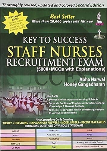 Buy Key To Success Staff Nurses Recruitment Exam (5000 MCQs