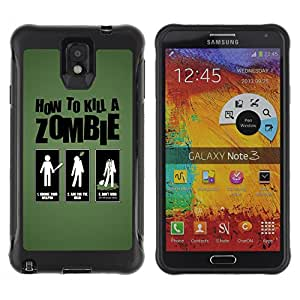 Hybrid Anti-Shock Defend Case for Samsung Galaxy Note 3 / How To Kill Zombies