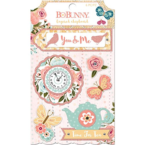 - Bo Bunny 7310077 Layered Stickers, Multi