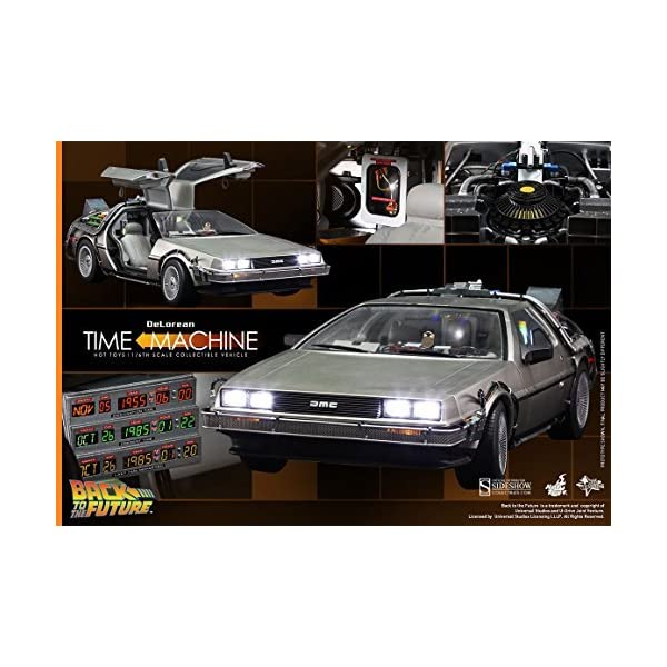 51f5aWsx8QL. SS600  - Hot Toys Back to the Future Part 1 DeLorean Time Machine 1/6 Scale Vehicle by Hot Toys