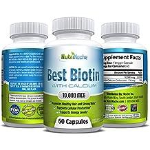 *The BEST Biotin *Biotin for Hair -Skin - Nails Growth *10000 MCG of Biotin for Maximum Strength *Top Rated Biotin Supplement *