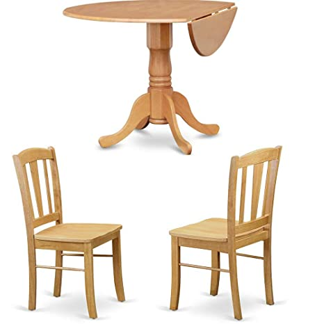 Amazoncom Efd Expandable Dining Set With Round Table And Four