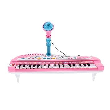 Con 37 Regalo Micrófono Niños De Musicales Fiesta Piano Blesiya Teclas Juguete Instrumentos Infantil Cumpleaños B Para Juego Eléctrico LSUjzpqMVG