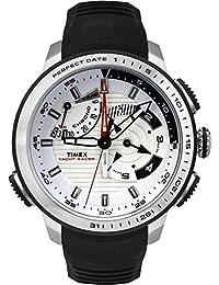 Timex Intelligent Quartz TW2P44600CS Yacht Racer White Dial and Black Silicone Strap