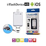 64 GB i-Flash Device HD Memory Data Storage Device OTG for iPhone 7 plus / 7/ 6s/ 6 /5s/5 iPad iPod Samsung IOS Android (3 in 1)