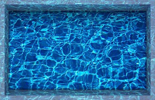 "H4S Royal Blue Water 3D Peel and Stick Waterproof Non Slip Thin PVC Bathroom Floor Stickers Shower Bath Mats Rugs Stickers Door Mat Sticker Art Decor Wall Decals for Kids, 22.83"" X 35.43"""