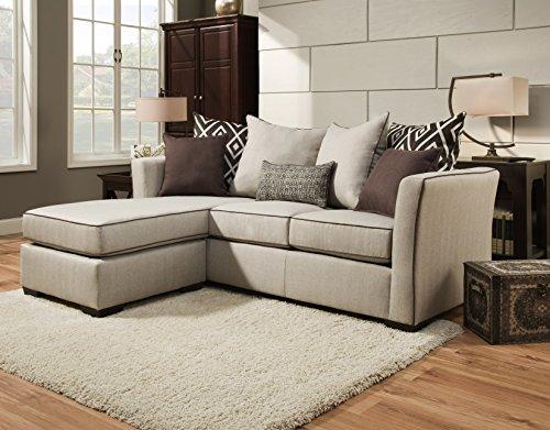 Simmons Upholstery 4202-04Q Linen Stewart Sleeper Sofa, Queen, Tan ()