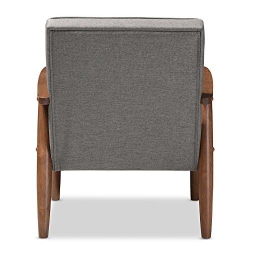 Farmhouse Accent Chairs Baxton Studio BBT8013-Grey Chair armchairs, Grey farmhouse accent chairs