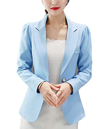Chaqueta de Traje para Mujer Blazers Elegante Oficina ...