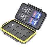 JJC MC-SDMSD12 Rugged Water-Resistant Memory Card Case (Black)
