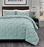 What Are the Dimensions of a Cal King Bed SuperBeddings Master 3PCs Pinch Pleat Comforter Set | Size: King/Cal-King | Color: Aqua Green | Crafting :Designer Pattern (1 Bedspread, 2 Pillow Shams Included)