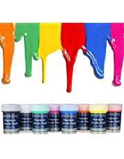 individuall Premium Acrylic Paint - Made in Germany - The Original – Extreme high Pigmentation - for Beginners, Students or Artists, Set of 8 Paints, Vivid Colors