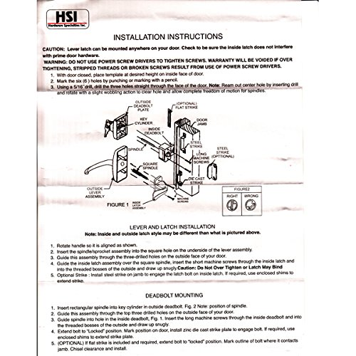 Storm Door Hardware Lever 2 Piece Surface Mount Oil Rubbed Bronze 3/4 Inch Thick Door by Hardware Specitalies, Inc (Image #2)