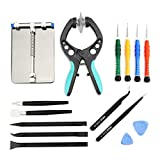 iphone 5 case with can opener - LCD Screen Opening Pliers Opening Repair Tool Kit with PCB Fixtures, ESD Tweezers, Opening Pry Tools, Screwdrivers, Scraper Knife and Carving Knife for cell phone and electronic products maintenance