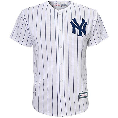 e8f1a032a Outerstuff MLB 8-20 Youth Blank Cool Base Home Color Team Jersey (Large  14 16