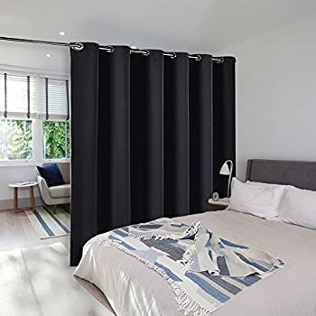 this item room divider curtain screen partitions nicetown hide clutter separate functions grommet top portable room divider screen curtain panel for