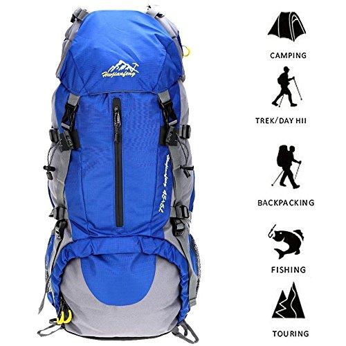 Hiking Backpack, Travel Hiking Daypack Waterproof Outdoor Trekking Bag 50L For Climbing Camping Mountaineering Skiing