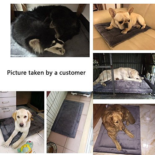 Dog Bed Mat Washable Soft Fleece Crate Pad - Anti-Slip Fleece Kennel Pad for Small Medium Large Pets Mattress by HAOLONGXIANG (Image #7)